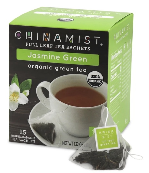 Jasmine Green Organic Green Full Leaf Tea Sachets (15-ct.)
